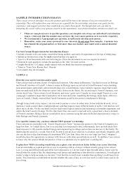 Introduction To Essay Example Resume Introduction Examples Resume For Your Job Application