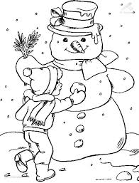 snow coloring sheet coloring