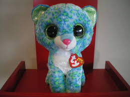 ty beanie boos medium leona blue leopard 22cm birthday