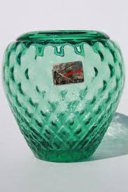 Mint Green Vase Mid Century Mod Vintage Mint Green Hand Blown Glass Vase Pilgrim