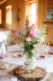 baby s breath centerpiece rustic pink barn centerpiece centerpieces country indoor reception