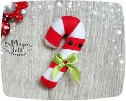 felt christmas ornaments candy cane christmas decorations felt