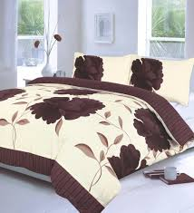 off white u0026 chocolate brown super king size duvet cover bedding