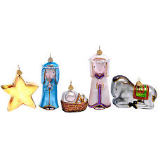 buy bombki away in a manger nativity tree ornaments set of 5
