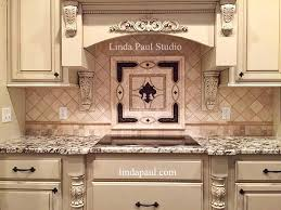 Kitchen Medallion Backsplash Fleur De Lis Backsplash Tile Mosaic Medallion Mosaics Mural