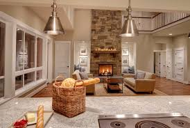 Fireplace niche decorating ideas living room southwestern with