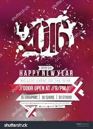 new year party flyer poster template stock vector 348272810