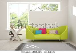 Living Room With Sofa Furniture Interior Living Room Sofa Table Stock Vector 583607992