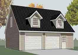 Two Story Garage Plans With Apartments Garage Plans Two Car Garage With Loft Apartment Plan 1476 4 4
