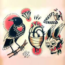 traditional crow tattoo design tattoo designs tattoo and tattoo art