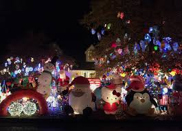christmas house lights photos every inch of rock house yard covered for
