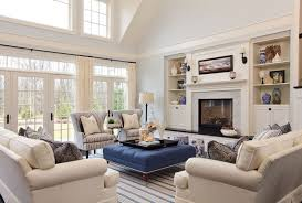 living room in beige color