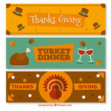 pack of thanksgiving banners free vectors ui