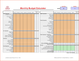 Budget Calculator Spreadsheet by Monthly Budget Calculatormemo Templates Word Memo Templates Word