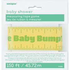 baby shower baby bump measuring tape game baby shower games
