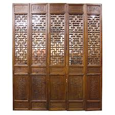 china home decor chinese antique 5 pcs carved screen room divider home decor
