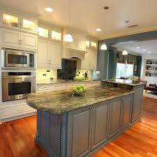 slate blue kitchen cabinets