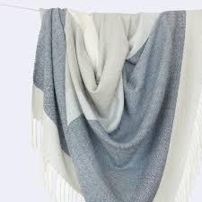 alpaca wool blanket blue grey stripes the citizenry