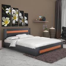 unicos denver engineered wood queen bed with storage price in