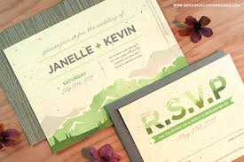 new mountain seed paper wedding invitations botanical