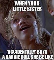 Little Sister Meme - dumb girl imgflip