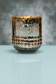 array gold votive holders mercury glass