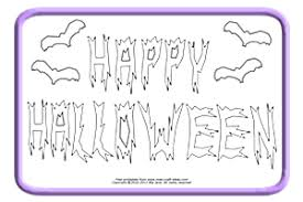banner coloring pages halloween coloring pages