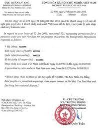 visa on arrival voa for vietnam