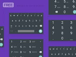 android material keyboard dark psd by musavvir ahmed dribbble
