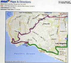 Pacific Coast Highway Map Take 110 South
