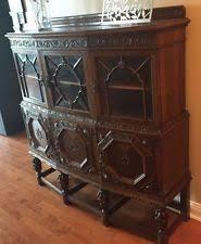 Ornate Display Cabinets Oak Antique Display Cabinets Ebay