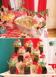 Circus Candy Buffet Ideas by Big Top Vintage Circus First Birthday Party Vintage Circus Big