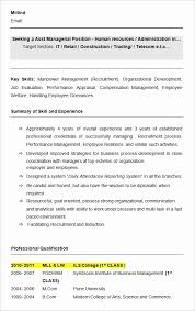 resume sles for freshers in word format sle resume cv format new cv templates professional curriculum