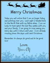 elf letter template the elf on the shelf leaves behind a good bye letter on christmas day