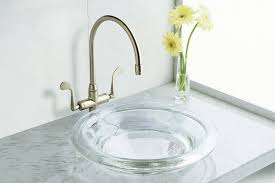 Sinks For Small Bathrooms by Looking Into A Glass Sink For Small Bathroom The Seattle Times