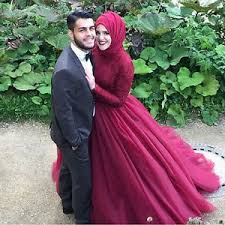 islamic wedding dresses arabic islamic muslim wedding dresses burgundy lace sleeve