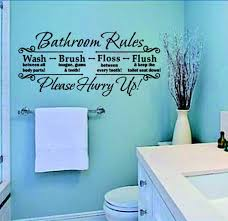 bathroom rules wall stickers