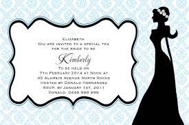 bridal shower silhouette postcard in pastel blue invitation