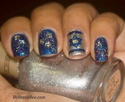 hanukkah nail happy hanukkah nails nailed it glitter nails