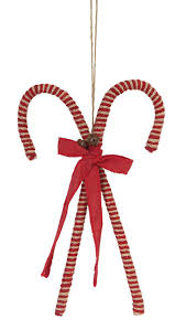 amazon com large rustic jute and burlap candy cane ornament home