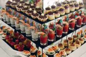 d oration canap dessert canape and food decoration in event salmon sushi