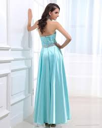 ankle length halter light blue evening gowns on sale on
