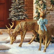 feeding gold stag frontgate outdoor decorations