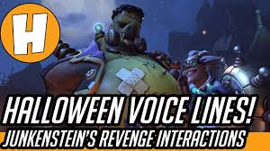 overwatch halloween new brawl interactions and voicelines youtube