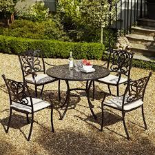 Patio Furniture Sets Uk - leisuregrow devon 4 seat cast aluminium garden furniture set