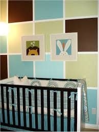 color block painted wall for boy u0027s nursery