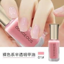 Cat Kuku color nail fast jelly half transparent 10ml