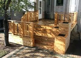patio rail planter boxes deck planters cedar deck with planter