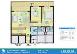 floor plan of al reef downtown village bedroom apartment singular