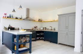 Kitchen Cabinet Paint Colours Kitchen Decorating With Cobalt Blue Accents Grey Kitchen Ideas
